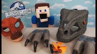 Download Jurassic World 2 Chomp 'N Roar Velociraptor Blue Mask, Claws, Tyrannosaurus Toy Unboxing Video