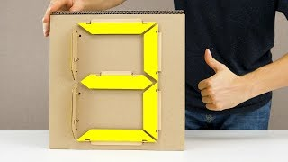 Download How to Make Mechanical 7 Segment Display from Cardboard Video
