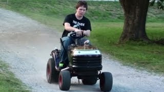 Download Pulley Swap Speed Test - Hot Rod Lawn Tractor - Racing Lawn Mower Video