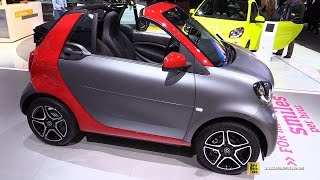 Download 2017 Smart for Two Cabrio - Exterior and Interior Walkaround - Debut at 2016 Detroit Auto Show Video