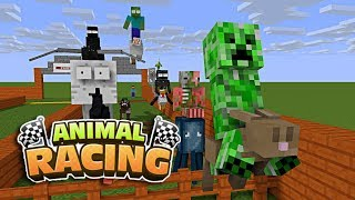 Download Monster School: ANIMAL RACING CHALLENGE - Minecraft Animation Video