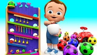 Download Learn Colors for Children with Baby Play Color Soccerballs Bells Wooden Slider Toy Set 3D Kids Edu Video
