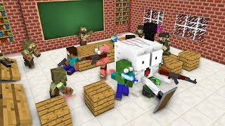 Download Monster School : ZOMBIE APOCALYPSE ATTACK - Minecraft Animation Video