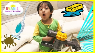 Download Kids Chores Cleaning Routine! Toys Clean Up Sweeping Washing Dishes Ryan's Family Review Vlog Video
