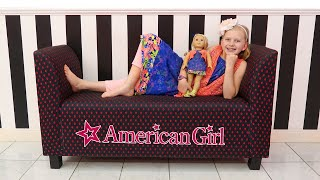Download Alyssa's First American Girl || Girls Day Out at the American Girl Cafe & Doll Hair Salon! Video