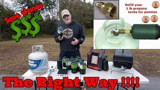 Download How To Fill Up A One Pound Propane Bottle - The Right Way and Save $$ Video