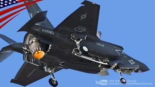 Download 【大迫力】F-35ステルス戦闘機の垂直着陸・在日米軍岩国基地 Video