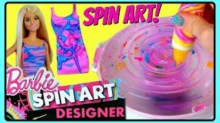 Download Barbie Spin Art Designer! DIY Make Your Own Clothes For Barbie! Design Super CUTE Dresses For Barbie Video