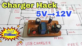 Download Charger upgrade | 5v charger modification for 12V | Free Circuit Lab Video