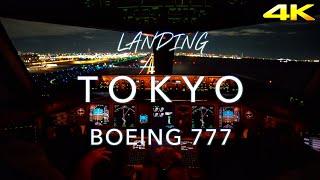 Download Landing Tokyo   B777 Cockpit View 4K Video