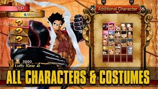 Download One Piece: Burning Blood - All Characters (Playable & Support), Costumes, & Stages Video