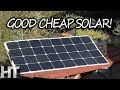 Download A QUALITY Flexible SOLAR PANEL On A BUDGET! 100 Watt Bouge RV Portable Panel Review Video