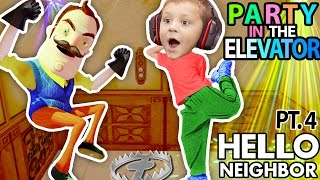 Download HELLO NEIGHBOR, CAN WE PARTY IN YOUR ELEVATOR? Scary FNAF Theme Park House? (FGTEEV Part 4 Alpha 1) Video