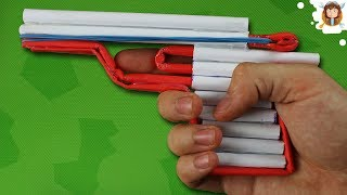 Download How to Make an Airsoft Gun - Paper Pistol - Improved Trigger Video