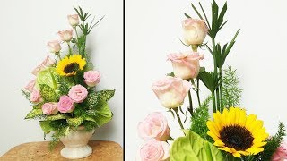 Download Flower Decoration Ideas|HOW TO Design PINK ROSE FLOWER Arrangement?35 Video