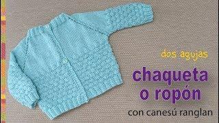 Download Chaquetita o ropón con canesú ranglan tejidos a dos agujas para bebés - Tejiendo Perú Video