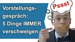 Download Vorstellungsgespräch: 5 Dinge IMMER verschweigen // M. Wehrle Video