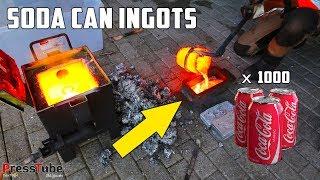 Download Shredding & Melting 1000 Coca Cola Soda Cans Into Huge Aluminium Ingots Video