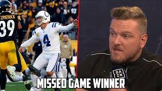 Download Pat McAfee Talks Adam Vinatieri Missed Game Winner vs. Steelers Video