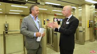 Download Fare gate construction at subway stations Video