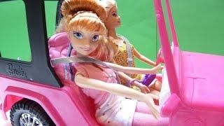 Download Xe Hơi Của Búp Bê Barbie - Búp Bê Barbie & Công Chúa Anna Cùng Chelsea Đi Du Lịch (Bí Đỏ) Video