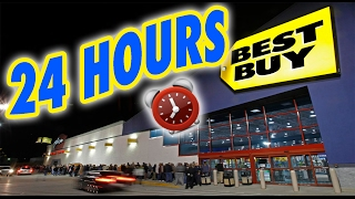 Download (SCARY!) 24 HOUR OVERNIGHT in BEST BUY | LOCKED OVERNIGHT CHALLENGE in BEST BUY FORT! Video