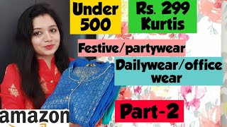 Download Amazon Kurti Haul 💞Under Rs. 500💞 Rs. 299 Kurtis💞Part-2💞 Pink's House Video