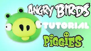 Download Angry Bird Pig Polymer Clay Tutorial | Cerdo de Angry Bird Porcelana Fría / Plastilina Video