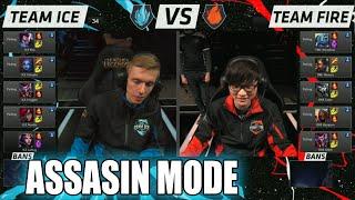 Download Team Ice vs Team Fire   Assasin Mode Match LoL All-Stars 2015 LA   Ice vs Fire Assasins All Star Video