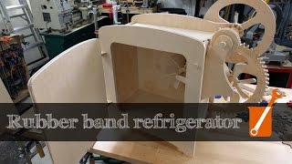 Download A refrigerator that works by stretching rubber bands Video