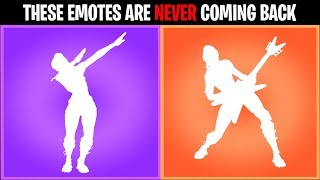 Download 10 Fortnite Emotes that are NEVER returning to the item shop.... Video