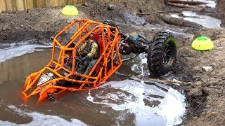 Download TANGO ROCK BOUNCER rips MUD on the Backyard Trail Course - NEON ORANGE MOA 4x4 | RC ADVENTURES Video