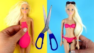Download 👙 DIY Barbie Bathing Suits with Balloons Making Easy No Sew Doll Swimsuits and Clothes for Barbies Video