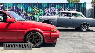 Download [HOONIGAN] DT 102: Toyota AE86 vs Tri-5 By Fire #SPACERACE Video