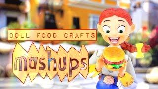 Download Mash Ups: Doll Food Crafts | Paper Crafts | Hamburger | Watermelon | Edible Cakes and More Video