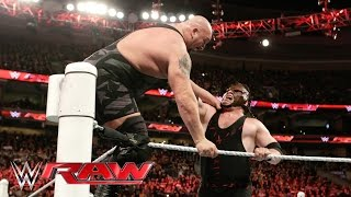 Download Kane clears the ring and levels Big Show: Raw, March 21, 2016 Video