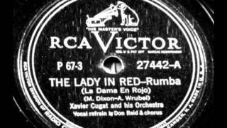 Download The Lady In Red(Rumba) by Xavier Cugat & Orch. from 1940 RCA Victor 78. Video