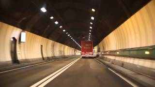 Download Mont Blanc tunnel from (I) to (F) Video