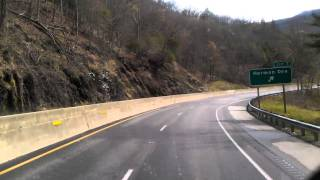Download Interstate 40 East just rolled into North Carolina and the Smokey Mountains Video