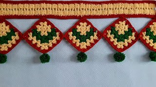 AWESOME WALL HANGING TORAN MAKING AT // EASY DOOR TORAN FROM