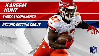 Download Kareem Hunt's Record-Setting Breakout Debut! | Chiefs vs. Patriots | NFL Wk 1 Player Highlights Video