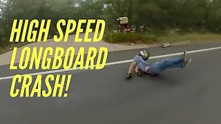 Download High speed longboarding plus *crash* Dusty Shaw Video
