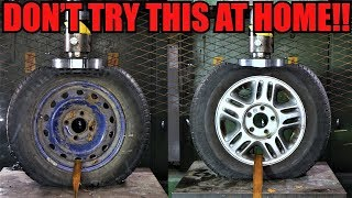 Download STEEL Vs. ALLOY WHEELS Which One Is Stronger? Hydraulic Press Test! Video