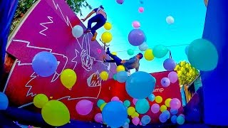 Download 1,000 BALLOONS ON A TRAMPOLINE! w/ Sam & Colby Video