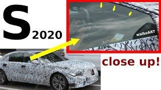Download Mercedes Erlkönig S-Klasse 2020 W223 S-Class close up getarntes Display Cockpit disguised SPY VIDEO Video