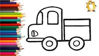 Download Раскраска для детей МАШИНКИ. Мультик - Раскраска. Учим цвета. Video