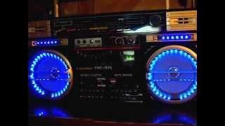 Download lasonic trc-975 jumbo boombox blue led lights Video