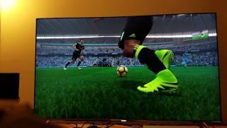 Download FIFA 17 Native 4K on PS4 Pro via Samsung S UHD KS8000 Series Video