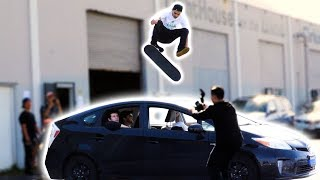 Download 360 FLIP OVER AARON KYRO'S CAR!? Video