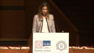 Download Ms. Philippa Michali, keynote speaker at the 2016 ALBA graduation ceremony Video
